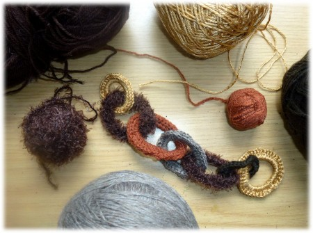 collier,laine,crochet